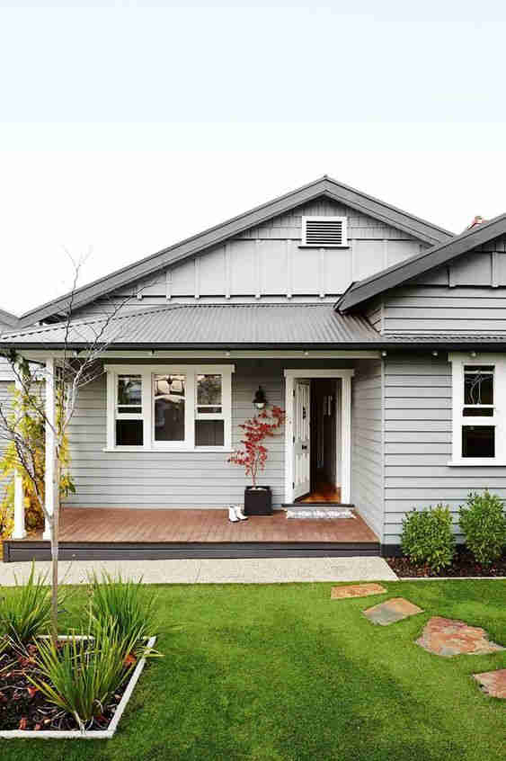 Beautiful grey renovated cottage with landscaped gardens