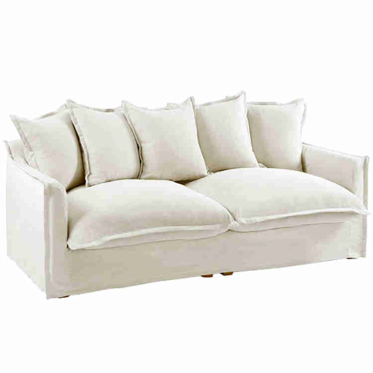 Stone 3 Seater linen sofa with slip covers